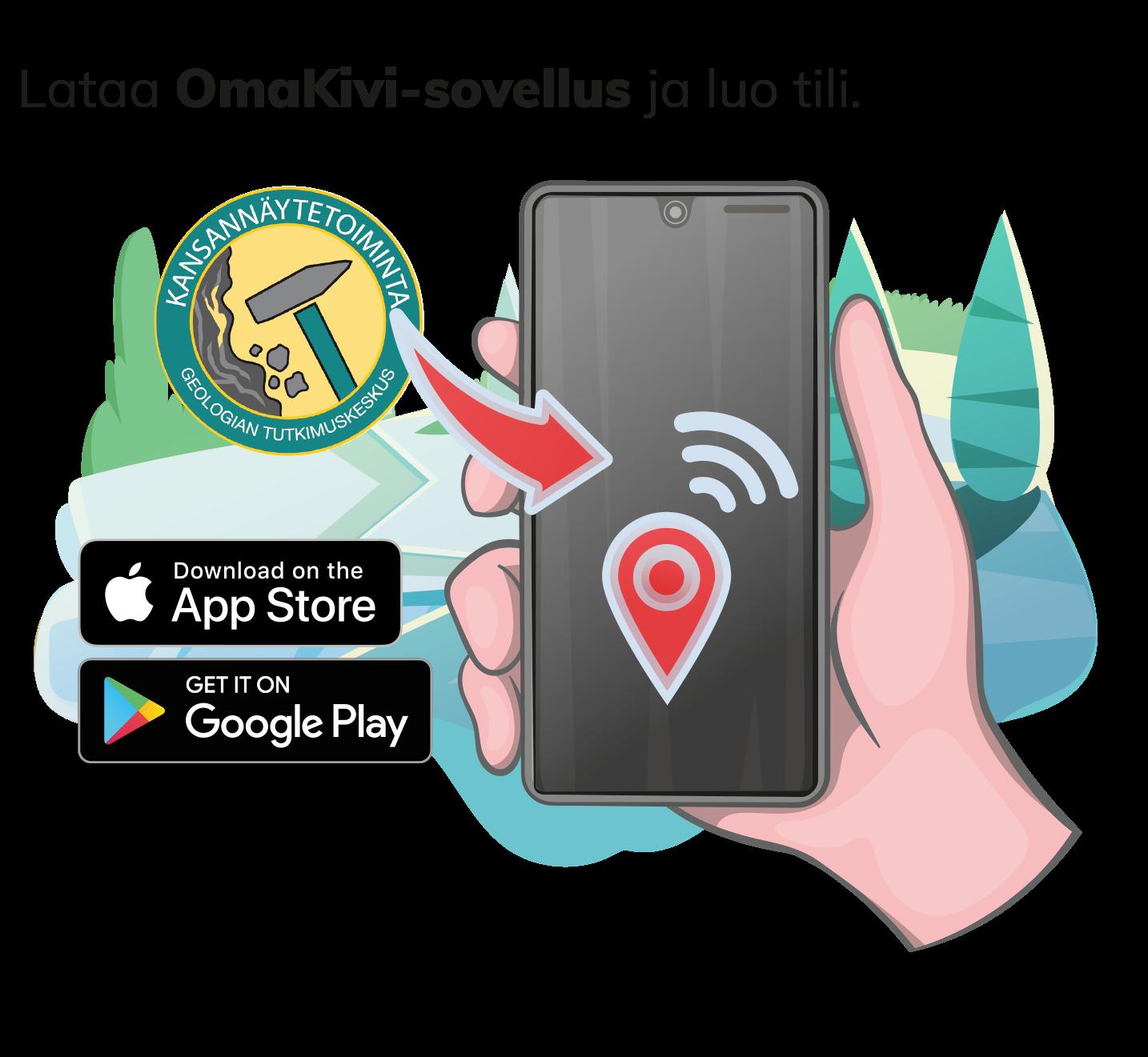Download the OmaKivi app and register.