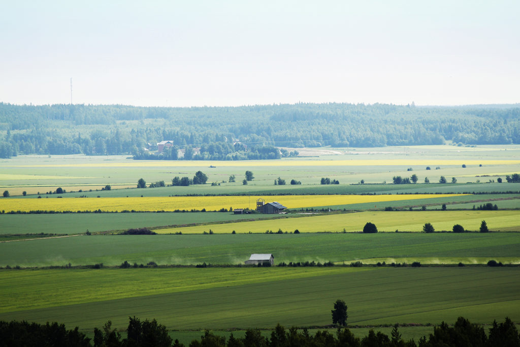 Söderfjärden impact crater in Vaasa.