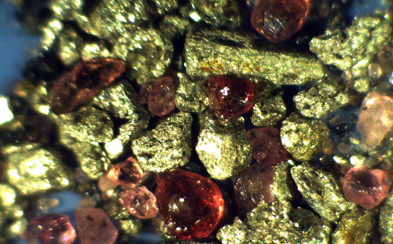 Pyrites and garnets