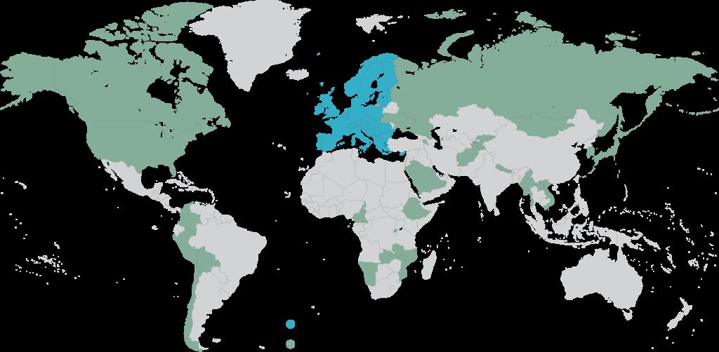 Projektit kartalla
